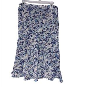 Jaclyn Smith ruffle bottom floral skirt size L